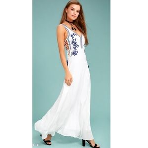 Lulu's Embroidered Maxi Dress